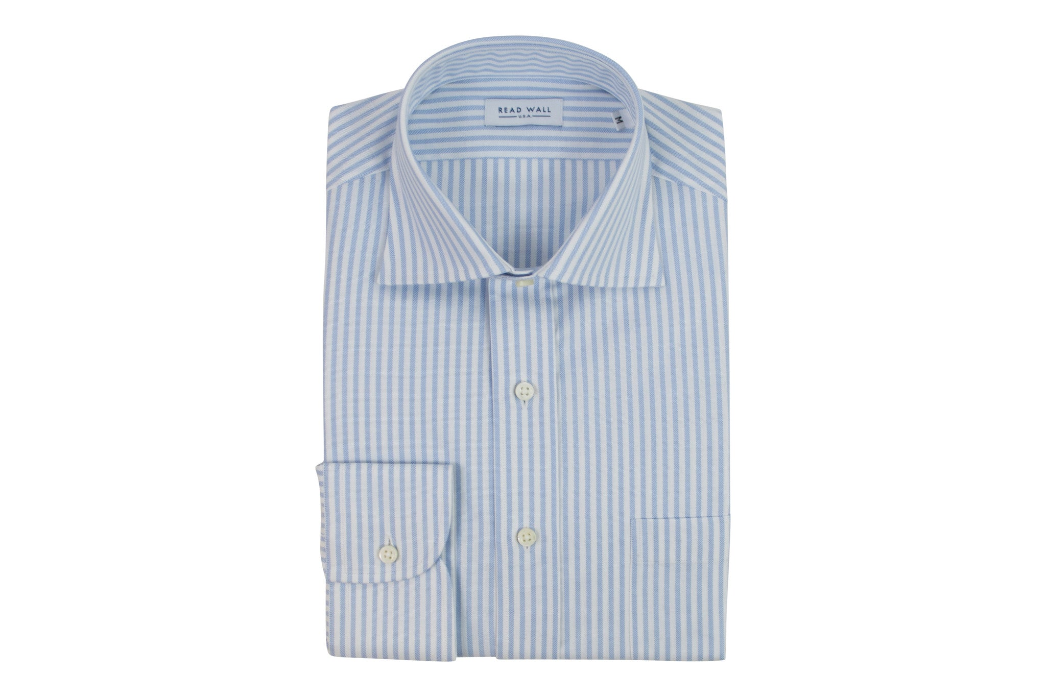 Thomas Mason Sport Shirt - Blue University Stripe Oxford