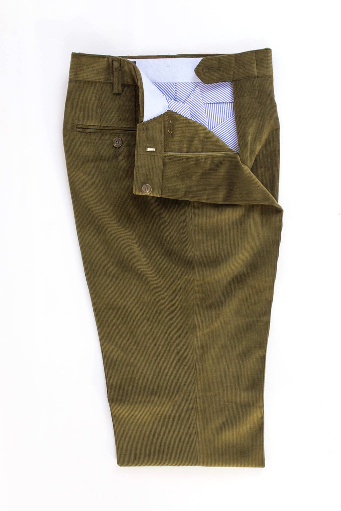 American made olive green corduroy
