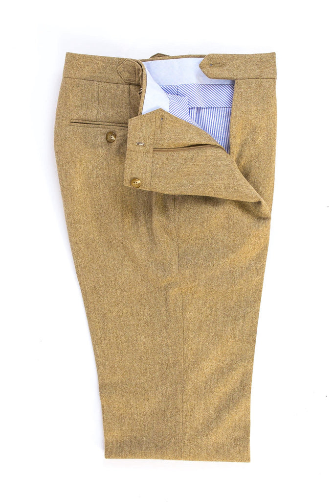 READ WALL Trouser - Tan Wool Flannel