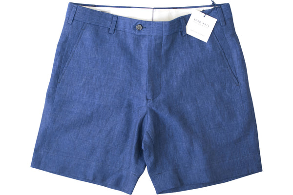 READ WALL Club Short - Indigo Linen