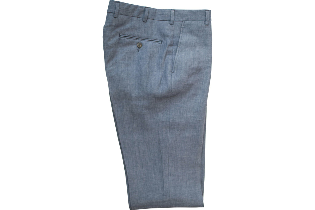 READ WALL Trouser - Steel Blue Linen
