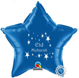 EGCBLUE Eid Mubarak Foil Balloon Blue