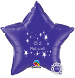 EGCPURPLE Eid Mubarak Foil Balloon Purple