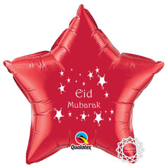 EGCRED Eid Mubarak Foil Balloon Red