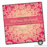 WWC017 Red Hot Paisley Walima Mubarak