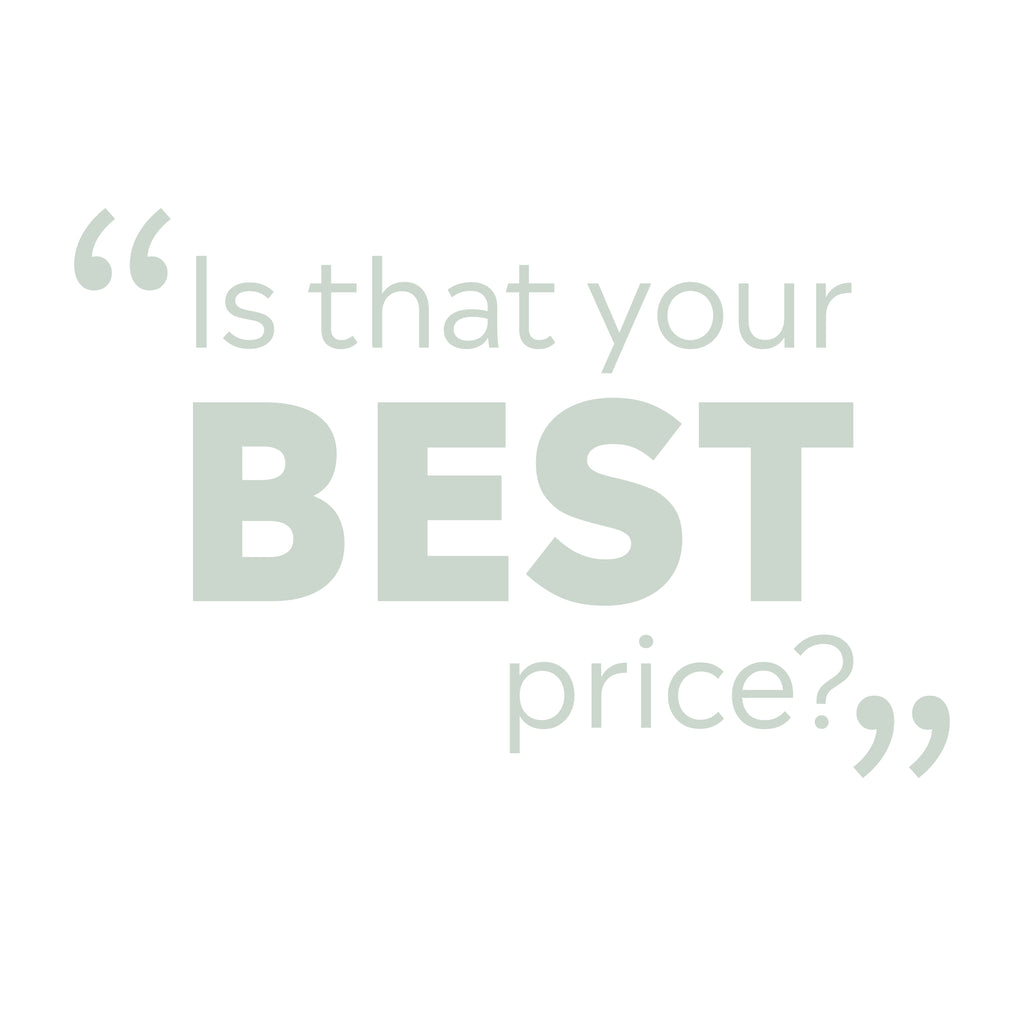 Is that your best price?