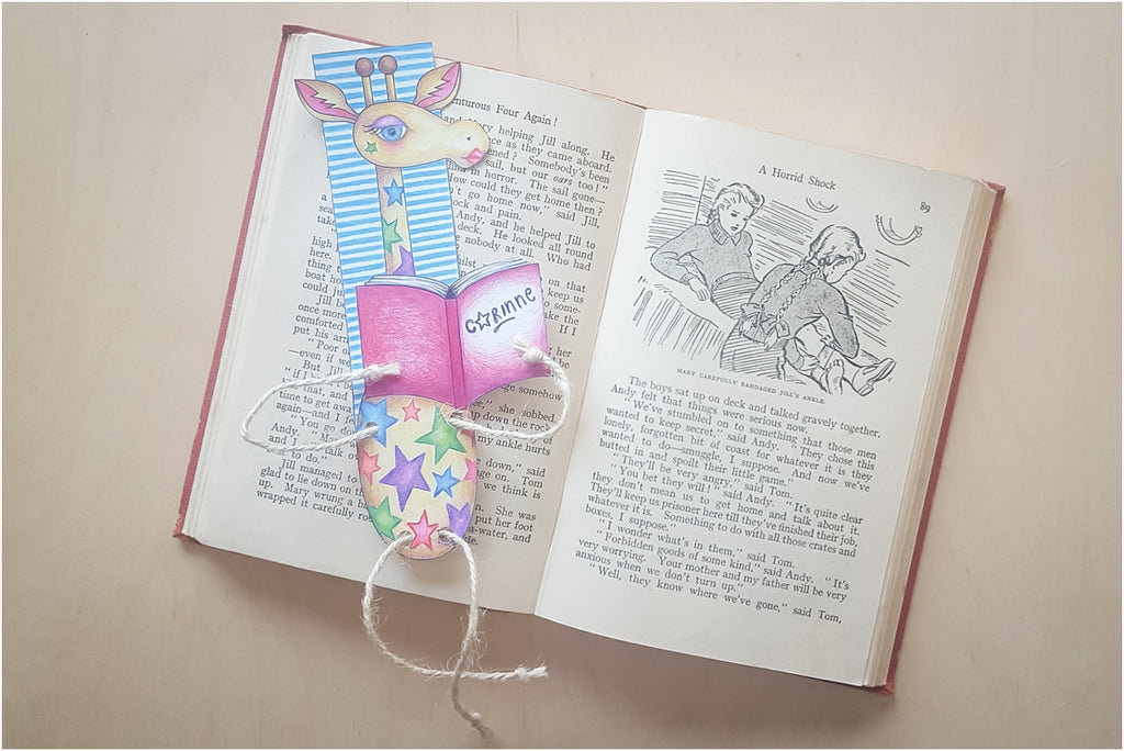 #MyHappyCrafts: Giraffe Bookmark