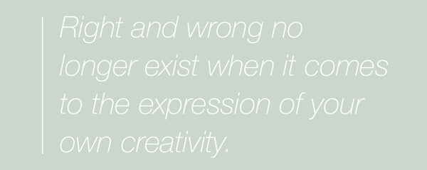 inspirational quote about expressing your own creativity