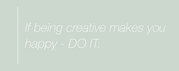 Inspirational quote about creativity and happiness