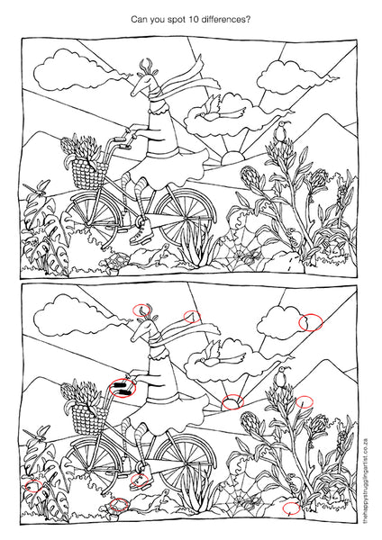 biking bokkie downloadable colouring page for kids