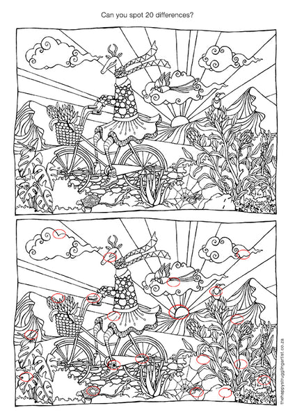 biking bokkie downloadable colouring page