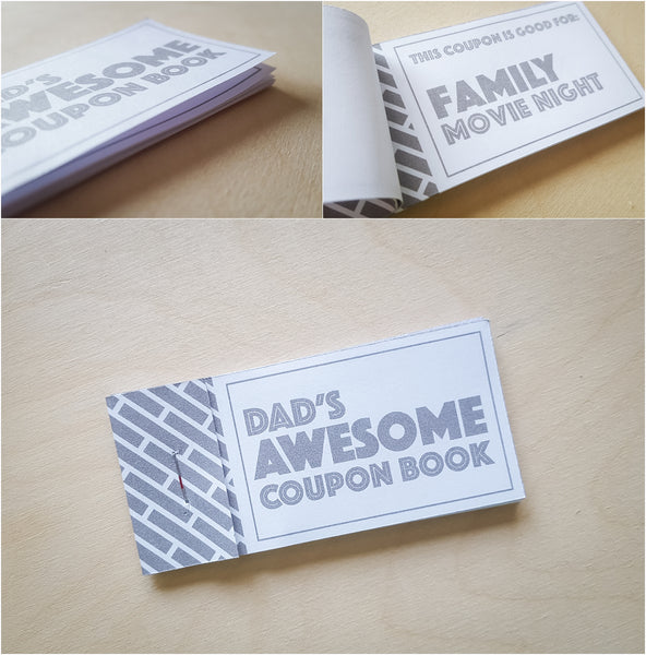 Fun coupon gift book for father's day