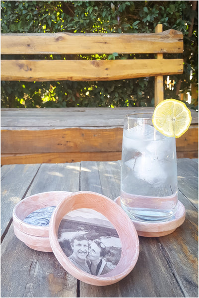 Personalized DIY photo coasters