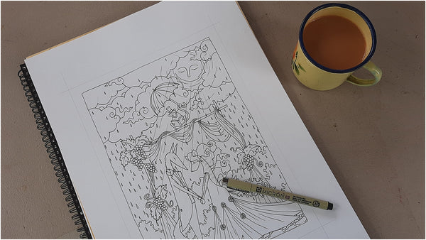 downloadable colouring page work in progress