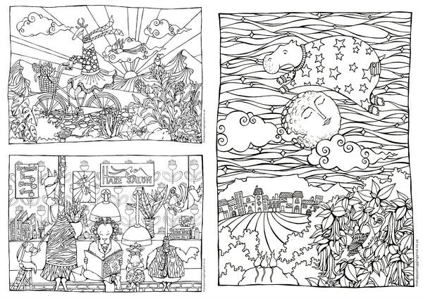 downloadable colouring pages for adults and children