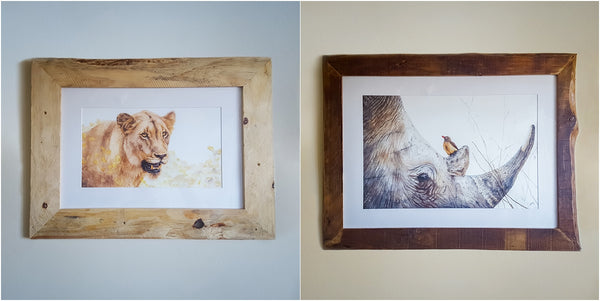 fine art wildlife prints with pallet wood frames by the modest toolbox