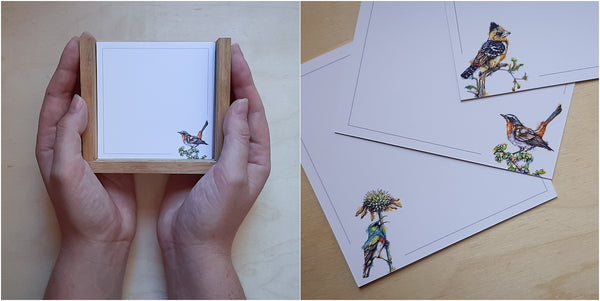 positive affirmation note box for bird watchers