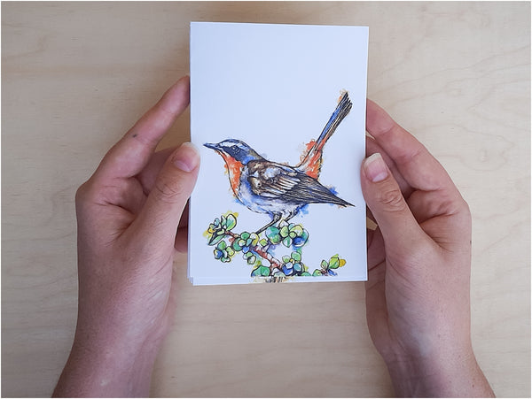 cape robin chat greeting card