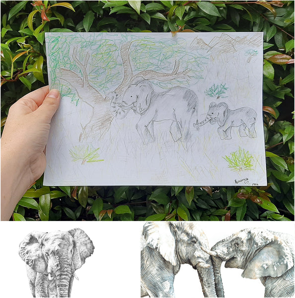 childhood drawing of elephants the happy struggling artist