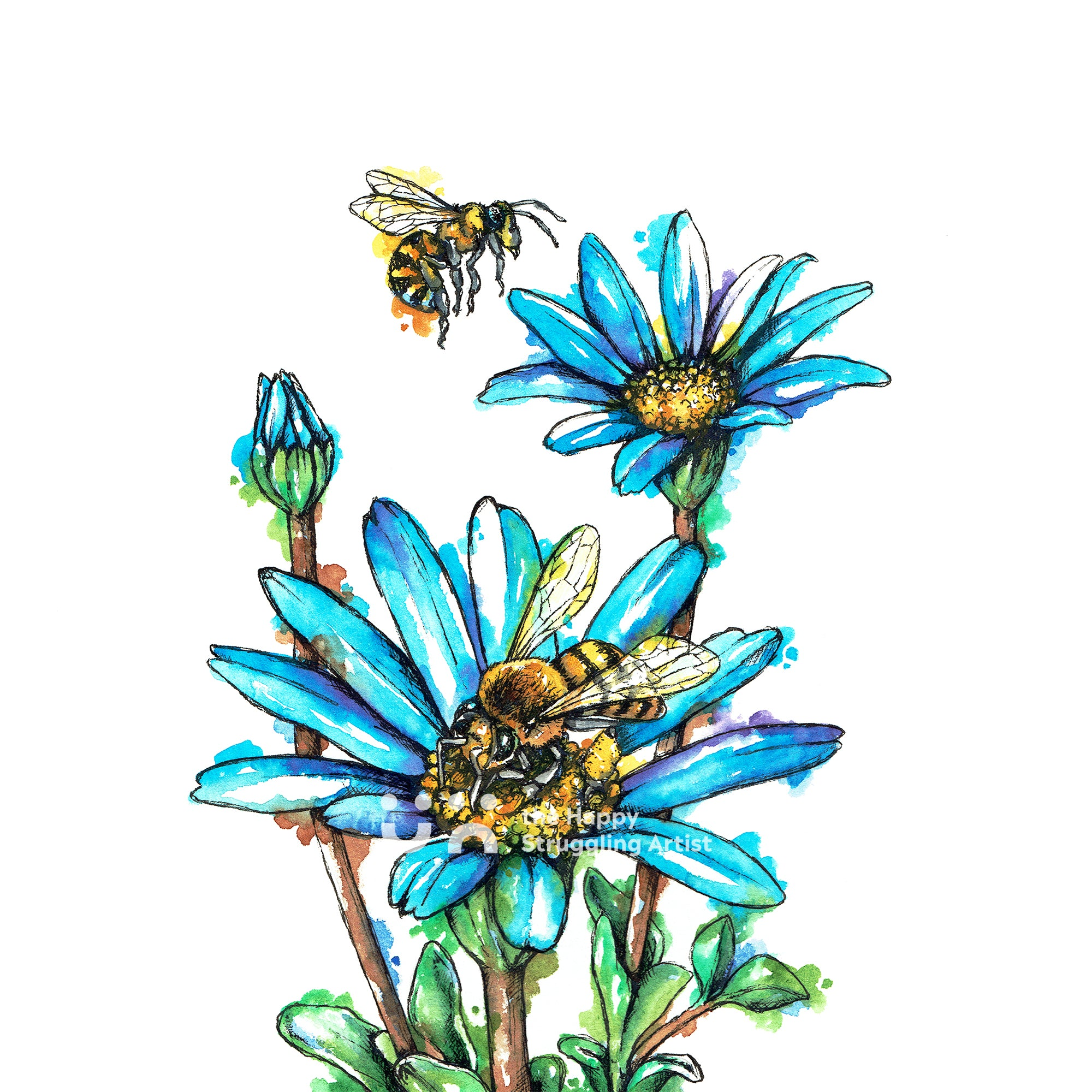 Honey Bees Downloadable Wall Art