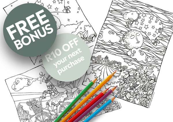 Sea Cow Jumped Over the Moon Colouring Page (Advanced)