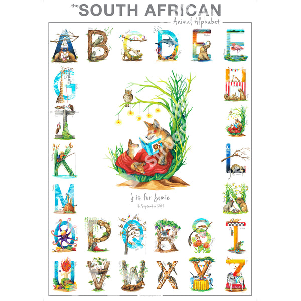 Personalised Animal Alphabet Poster