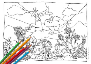 Biking Bokkie Colouring Page (Kiddies)