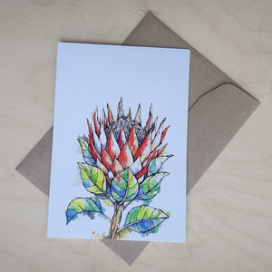 Greeting Card: King Protea