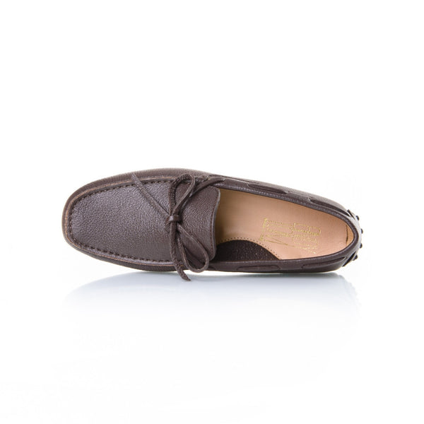 Brown Pebble-Grain Leather
