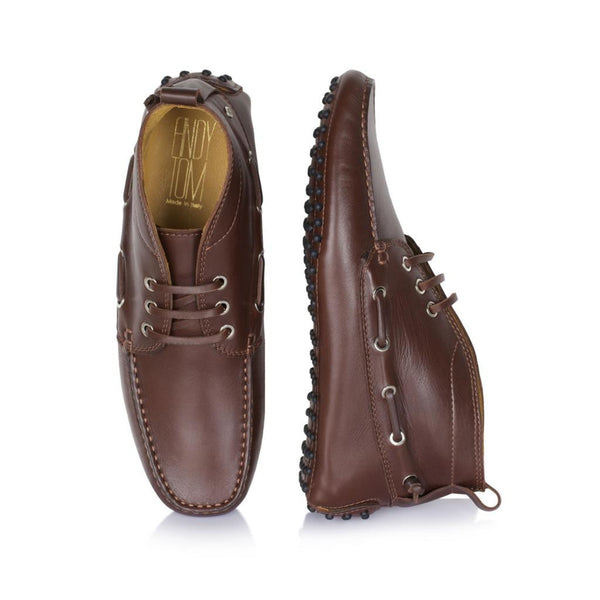 Walnut Brown Leather Driving Boots