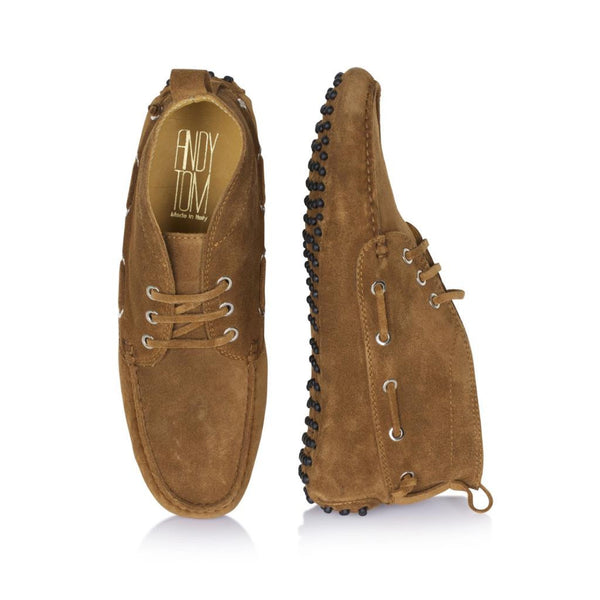 Tobacco Suede Driving Boots