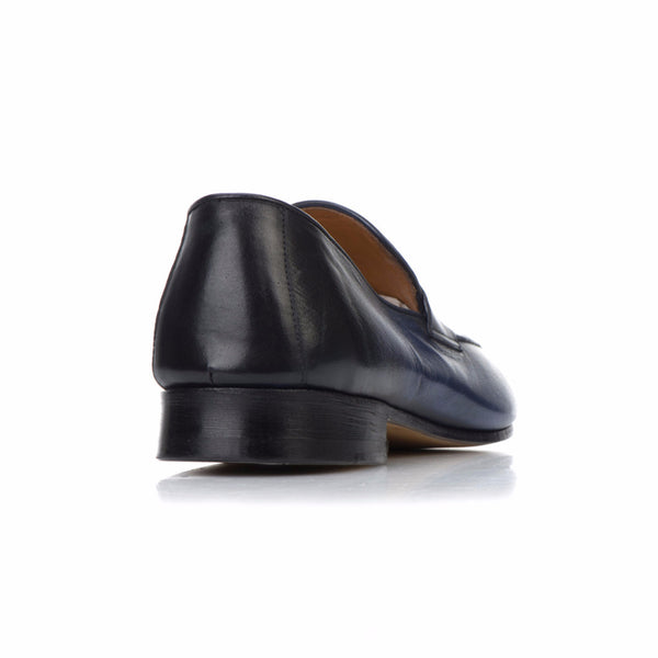 Loafers - 'Penniless' Loafer - Deep Ocean Patina - Rovesciata Construction - La Ginevra Last