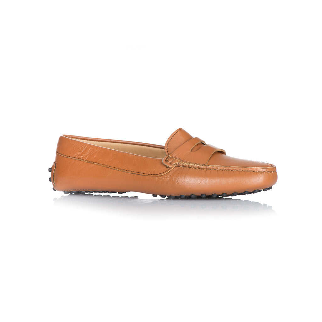 a7d86d5cdda Women s Cognac Calf Leather Penny Loafers – L bardi