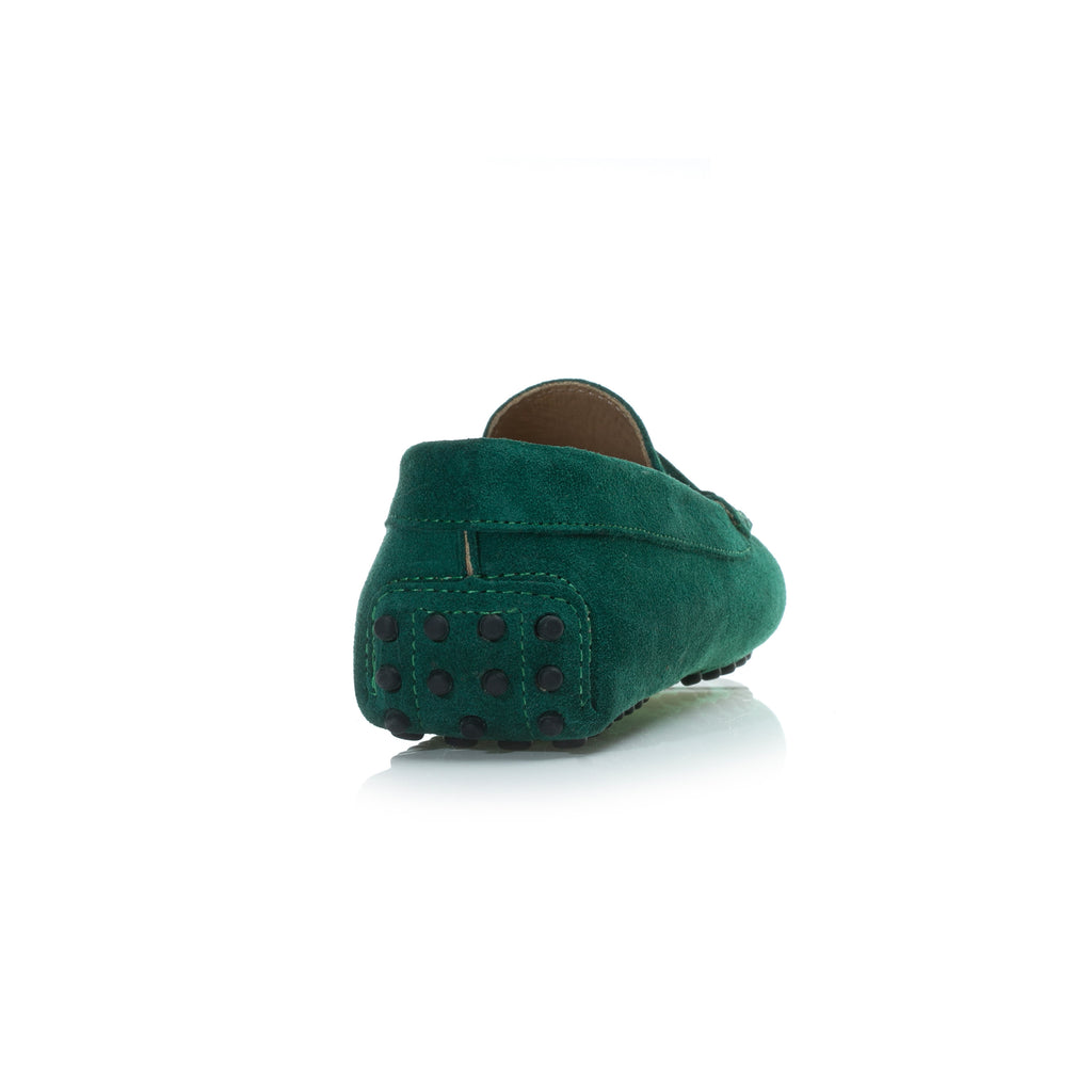 Emerald Green Suede Loafers – L'bardi