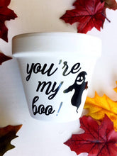 Load image into Gallery viewer, You're My Boo! Pot - Halloween Decoration - Autumn Decor - Fall Decor - Front porch - Halloween Pot - Cute Flower Pot - Knox Pots - Knox Pot