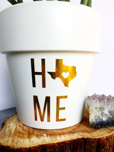 HOME State Pride Pot - State Pride - State Gift - Going Away Gift - Moving Gift - Cute Flower Pot - Housewarming Gift - Knox Pots - Knox Pot