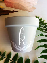 Load image into Gallery viewer, Lowercase Initial Pot - Initial Planter Pot - Wedding Gift - Planter with Initial - Pot with Initial - Initial Gift - Knox Pot - Knox Pot