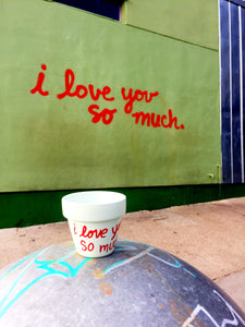 i love you so much Pot - Austin I Love You So Much Wall - i love you so much -Photo Wall - Jo's Coffee - Austin Mural - Knox Pots - Knox Pot