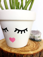 Load image into Gallery viewer, Face Planter - Cute Flower Pot - Eyelash Studio - Eyelashes - Faceplanter - Succulent - Succulent Gift - -  Knox Pots - Knox Pot- Plant Pun