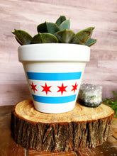 Load image into Gallery viewer, Chicago Flag Pot - Chicago Pot - Chicago Gift - Chicago - Chicago Flag - Cute Flower Pot - Chi-town - Chitown - Knox Pots - Knox Pot