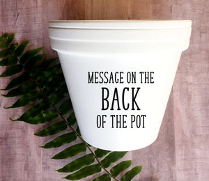 Message on the Back of the Pot
