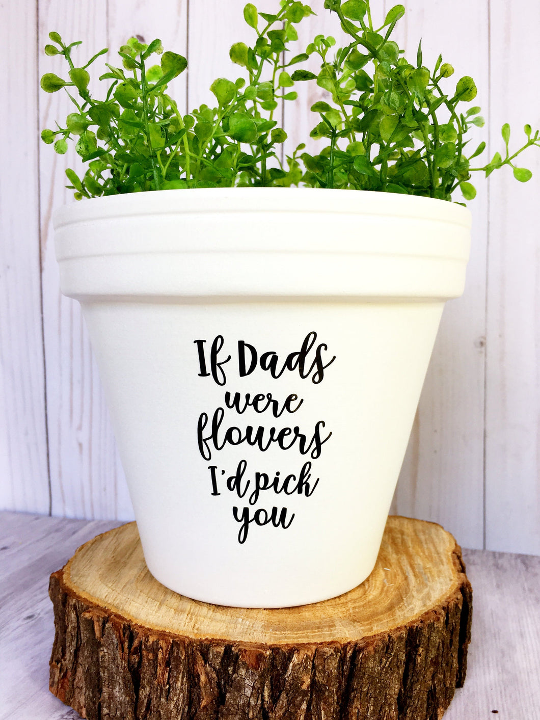 If DADS Were Flowers I'd Pick You - Father's Day Gift - Gift for Dad- Fathers Day - Cute Flower Pot - Flower Pot - Knox Pot - Knox Pots