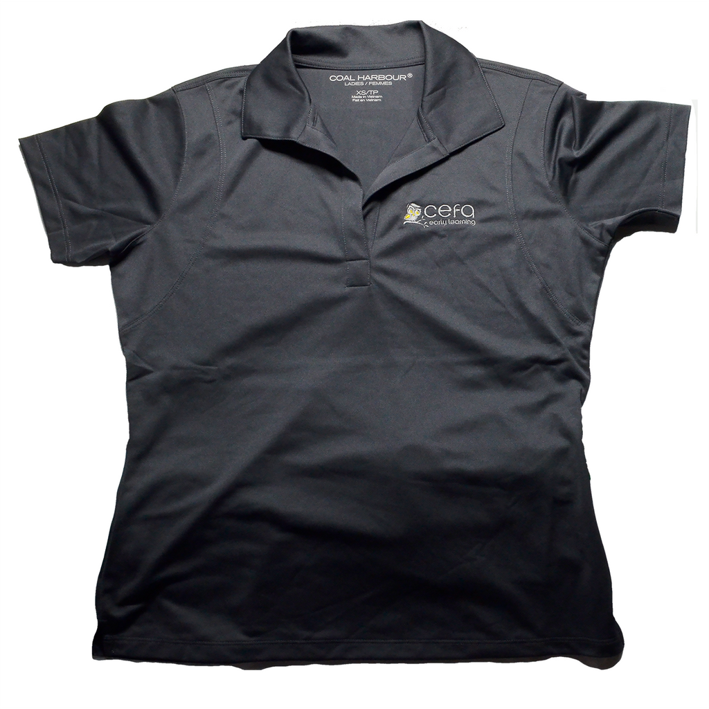 Ladies Grey Polo Short Sleeve T-Shirt