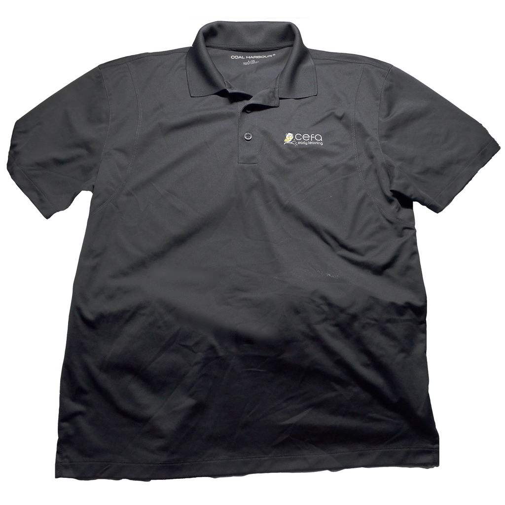 Men's Grey Polo Short Sleeve T-Shirt