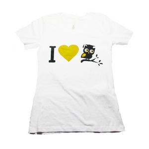 Ladies I LOVE OWLIE Short Sleeve T-Shirt