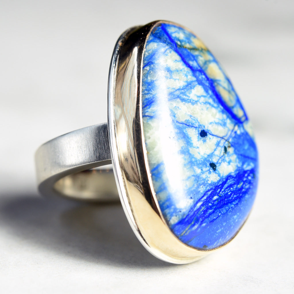 Jamie Joseph Large Russian Azurite Ring