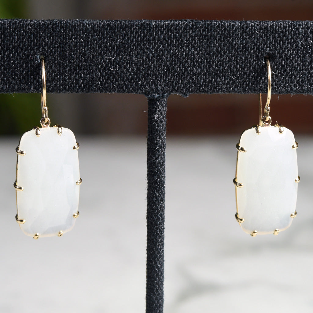 Jamie Joseph White Moonstone Earrings