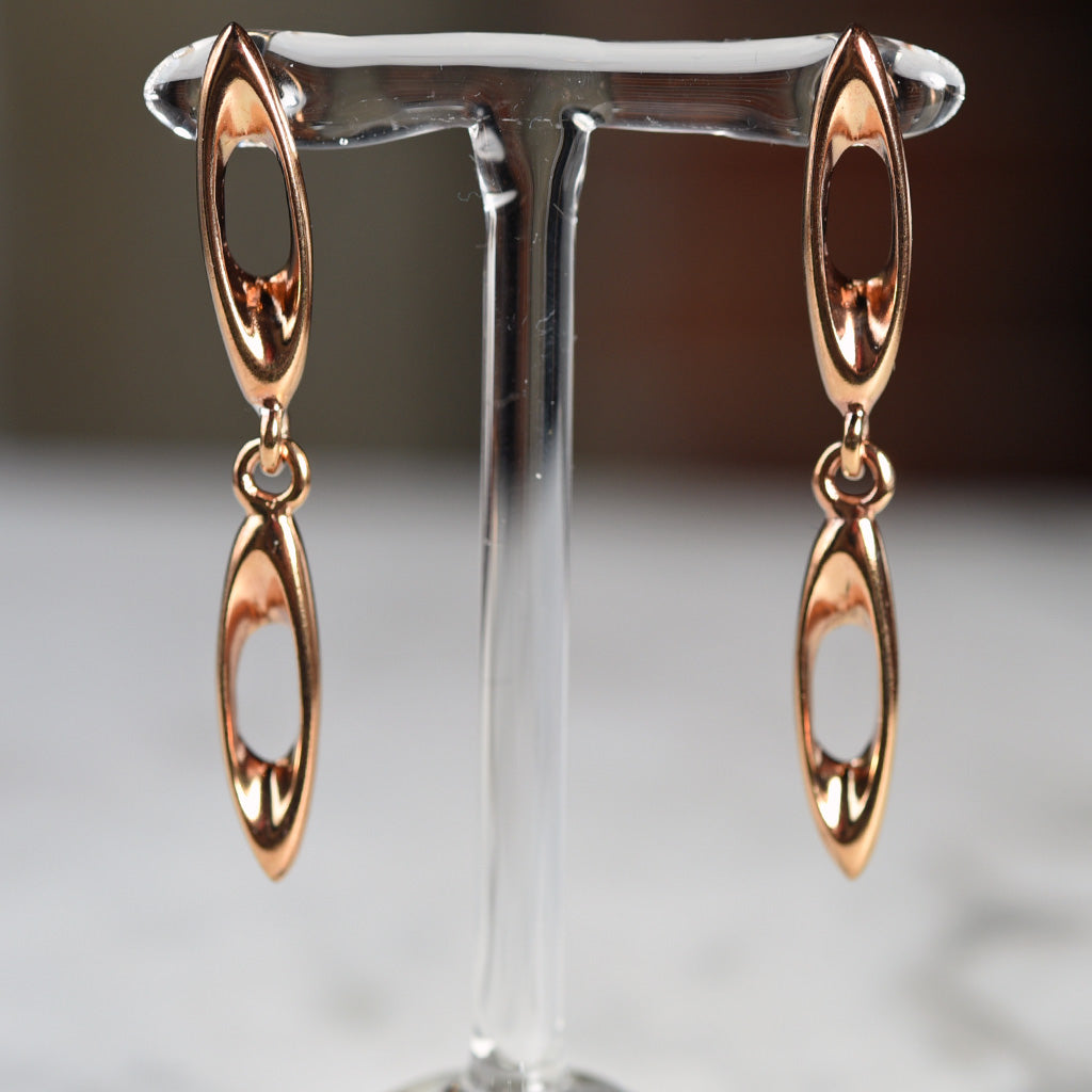 "Monica Castiglioni ""Crune"" Bronze Earrings"
