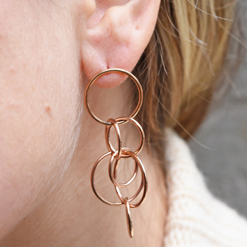 "Monica Castiglioni ""Superleggera 02"" Bronze Earrings"