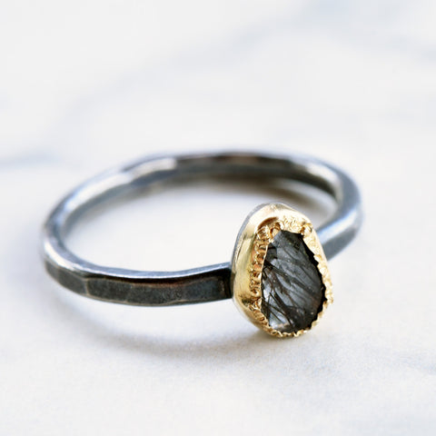 Rusty Thought Rutilated Quartz Ring